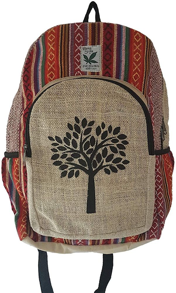 Tree of Life Hemp Backpack